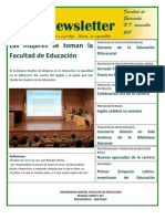 Newsletter 7 - Facultad de Educación