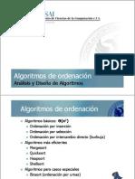 Algoritmos de ordenación