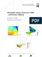 Renewable Energy Resources in Mali