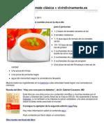 Receta Sopa de Tomate Clasica de Megumi Vivir Divinamente