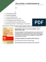 receta Batido de Chia y Canela de Megumi Vivir Divinamente del libro Hay una Cura para la DIabetes