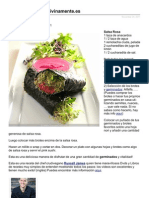 Receta pink Sushi de Megumi Vivir Divinamente