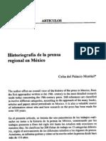 Historiografia de La Prensa Regional en Mexico_Del_Palacio
