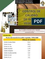 Control de Calidad de Aceites Vegetales por Q.F. Marilú Roxana Soto Vásquez