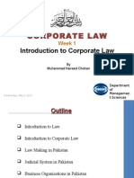 Week 1 - Introduction to Corporate Law