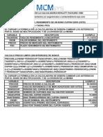 Formulario Hp 19BII