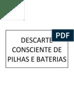 Descarte Consciente de Pilhas e Baterias