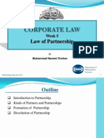 Week 5 Partnership Law
