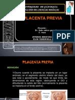 placenta previa exposicion lista