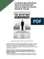 El arte de la guerra para ejecutivos de saberes ancestrales para profesionales de negocios hoy por Donald G Krause - Averigüe por qué me encanta!