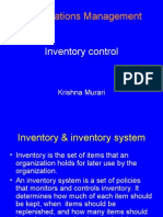 Inventory Control in OM
