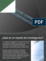 Como Hacer Un Reporte de Investigacion