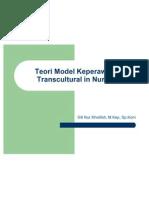 Teori Model Keperawatan Trans Cultural Nursing