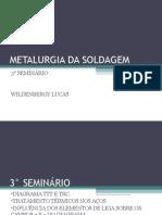 METALURGIA DA SOLDAGEM 3 SEMINÁRIO