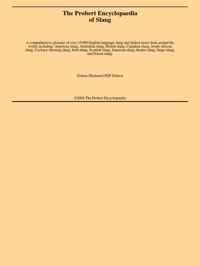 3e46dd016b1d Slang - Dictionary