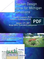 Michigan; Rain Garden Design Specifications for Michigan Conditions