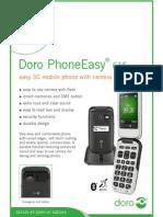FactSheet DoroPhoneEasy615gsm Uk