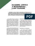 Critica a La Modern Id Ad Alain Tourine