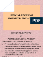 Judicial Review of Administrative Action