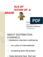 Channels of Distribution of a Brand