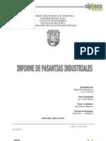 Informe de Pasantías Miguel, Ing. Mecánica