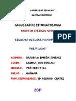 Esquema Oclusal Monoplano y Poliplano