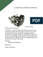 Golf Cart Manual