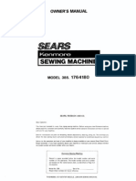 Kenmore Sewing Machine Manual Model 385-1764180