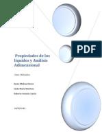 Propiedades de los Líquidos y Análisis Adimensional