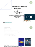 Incision Designs & Suturing Technique in Oral Surgery-part-2