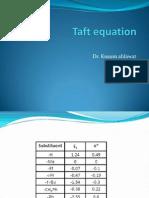 Taft equationPPT Kusum