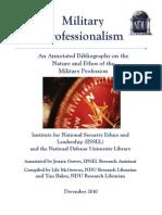 Military Professionalism Bibliography