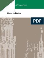 Parliament guidance on mass lobbies