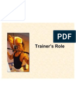 7 - Trainer's Role