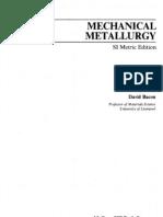 Mechanical Metallurgy by DIETER