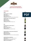 Spizzico Italian Wines Menu
