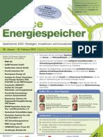 Konferenz Chance Energiespeicher