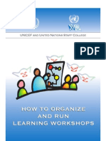 How to Organize and Run Learning Workshops