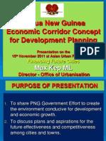 Papua New Guinea Economic Corridor Concept for Development Planning