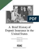 History of FDIC Deposit Insurance