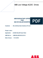 1015122010 500 KW Solar Offer With SLA for 3 Years