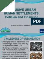 Inclusive Urban Human Settlements