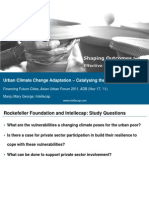 Urban Climate Change Adaptation - Catalysing the Private Sector
