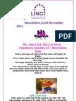 Newsletter 23rd November 2011