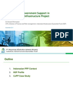 IIGF Role and Government Support in Indonesian PPP Infrastructure Project