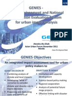 GENIES - Global Environment and National Information Evaluation System for urban analysis