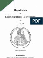 Repertorium zur Münzkunde Bayerns. [II] / von J. V. Kull