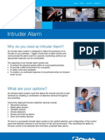 Intruder Alarm Brochure