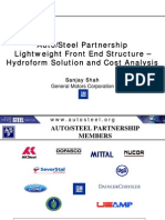 01_AutoSteel Partnership Lightweight Front End Structure –Hydroform Solution and Cost Analysis_Sanjay Shah