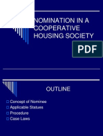 Nomination in a Cooperative Housing Society